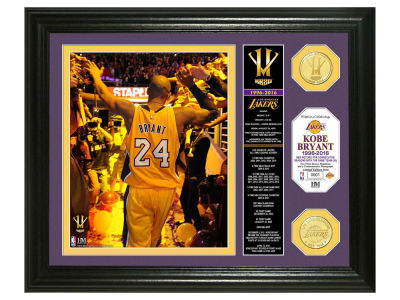 "Los Angeles Lakers Kobe Bryant 13x16 ""Final Season"" Banner Bronze Coin Photo Mint"