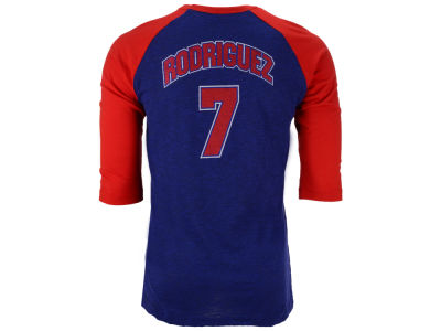 Texas Rangers Pudge Rodriguez MLB Men's Player Tactics Raglan T-Shirt