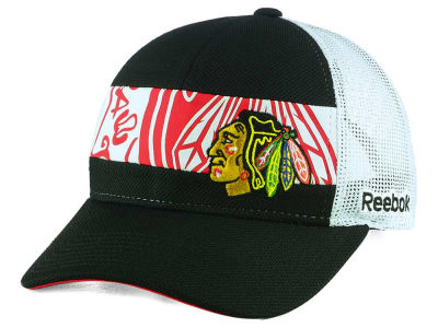 Chicago Blackhawks Reebok NHL Dual Logo Mesh Cap