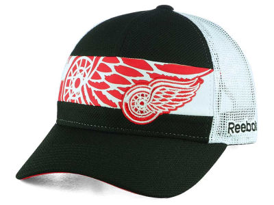Detroit Red Wings Reebok NHL Dual Logo Mesh Cap