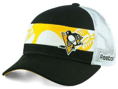 Pittsburgh Penguins NHL Dual Logo Mesh Cap