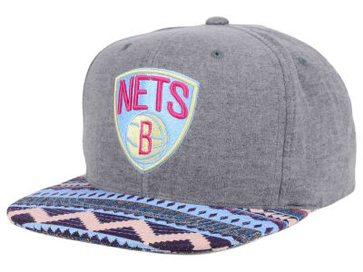 Brooklyn Nets Mitchell and Ness NBA Tribes Snapback Cap