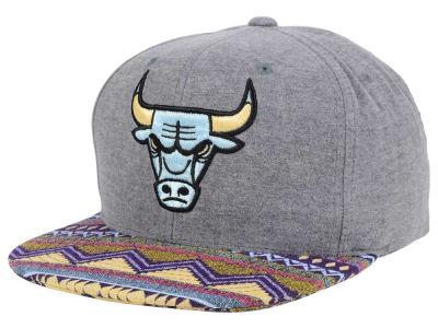 Chicago Bulls Mitchell and Ness NBA Tribes Snapback Cap