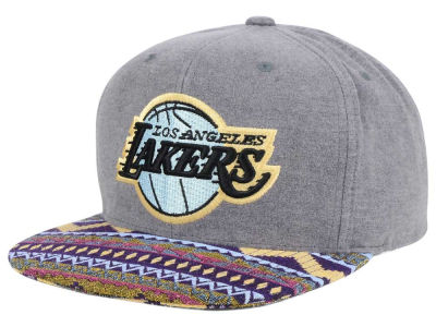 Los Angeles Lakers Mitchell and Ness NBA Tribes Snapback Cap