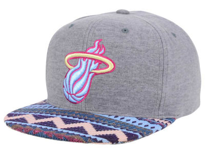 Miami Heat Mitchell and Ness NBA Tribes Snapback Cap