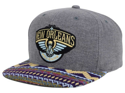 New Orleans Pelicans Mitchell and Ness NBA Tribes Snapback Cap