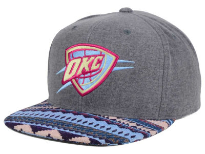 Oklahoma City Thunder Mitchell and Ness NBA Tribes Snapback Cap