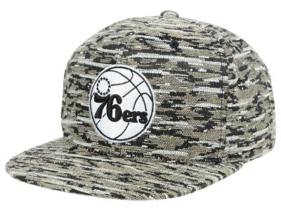Philadelphia 76ers Mitchell and Ness NBA Rugged Snapback Cap