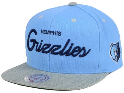 Memphis Grizzlies Mitchell and Ness NBA Heather Special Script Snapback Cap