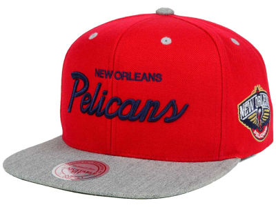 New Orleans Pelicans Mitchell and Ness NBA Heather Special Script Snapback Cap