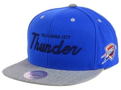 Oklahoma City Thunder Mitchell and Ness NBA Heather Special Script Snapback Cap
