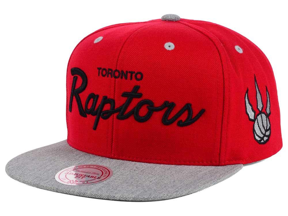dca25ed9059 Toronto Raptors Mitchell   Ness NBA Heather Special Script Snapback Cap