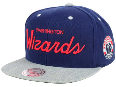 Washington Wizards Mitchell & Ness NBA Heather Special Script Snapback Cap