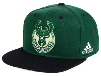 Milwaukee Bucks adidas NBA Courtside Snapback Cap