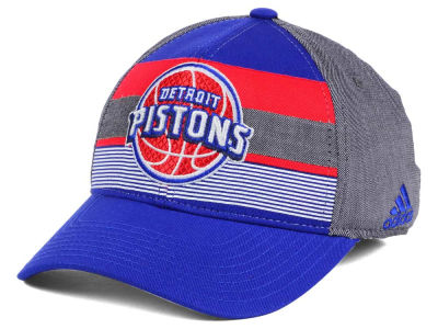 Detroit Pistons adidas NBA Tri-Color Flex Cap