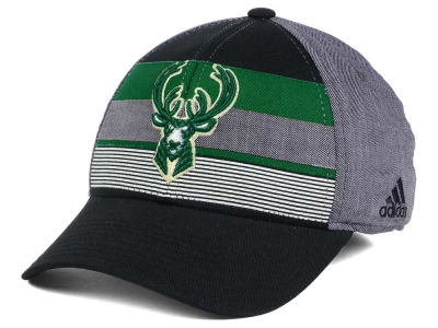 Milwaukee Bucks adidas NBA Tri-Color Flex Cap