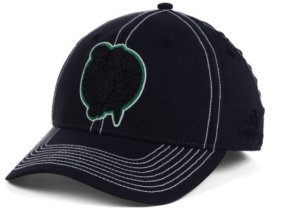Boston Celtics adidas NBA Black Color Pop Flex Cap