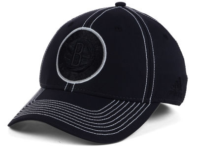 Brooklyn Nets adidas NBA Black Color Pop Flex Cap