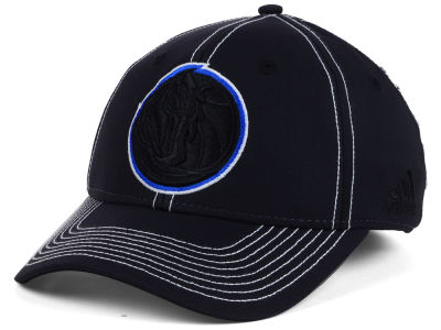 Dallas Mavericks adidas NBA Black Color Pop Flex Cap