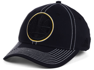 Golden State Warriors adidas NBA Black Color Pop Flex Cap