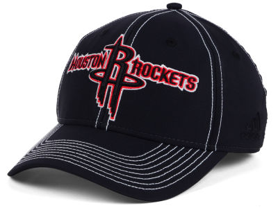 Houston Rockets adidas NBA Black Color Pop Flex Cap
