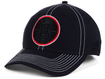 Los Angeles Clippers adidas NBA Black Color Pop Flex Cap