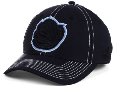 Memphis Grizzlies adidas NBA Black Color Pop Flex Cap