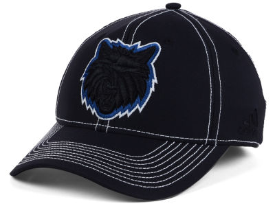 Minnesota Timberwolves adidas NBA Black Color Pop Flex Cap