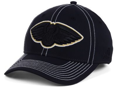 New Orleans Pelicans adidas NBA Black Color Pop Flex Cap