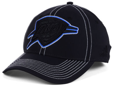 Oklahoma City Thunder adidas NBA Black Color Pop Flex Cap