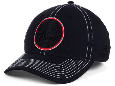 Philadelphia 76ers adidas NBA Black Color Pop Flex Cap
