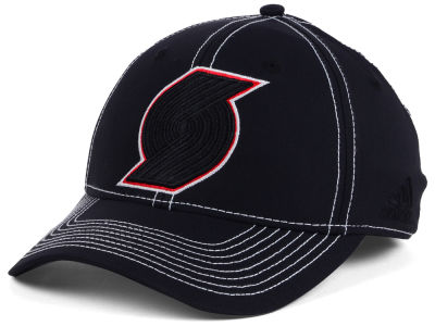 Portland Trail Blazers adidas NBA Black Color Pop Flex Cap