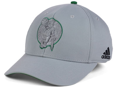 Boston Celtics adidas NBA Gray Color Pop Flex Cap