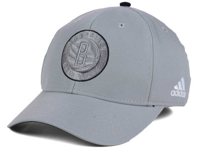 Brooklyn Nets adidas NBA Gray Color Pop Flex Cap