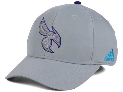 Charlotte Hornets adidas NBA Gray Color Pop Flex Cap