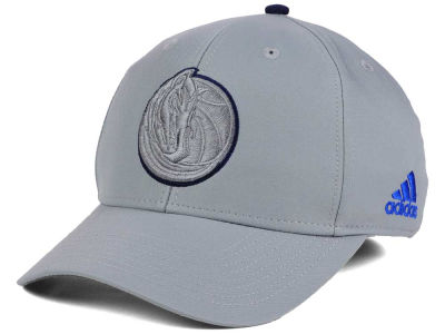 Dallas Mavericks adidas NBA Gray Color Pop Flex Cap