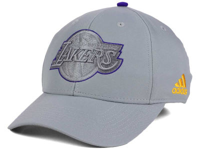 Los Angeles Lakers adidas NBA Gray Color Pop Flex Cap