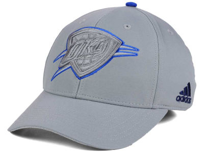 Oklahoma City Thunder adidas NBA Gray Color Pop Flex Cap