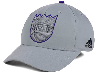Sacramento Kings adidas NBA Gray Color Pop Flex Cap
