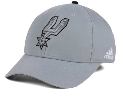 San Antonio Spurs adidas NBA Gray Color Pop Flex Cap