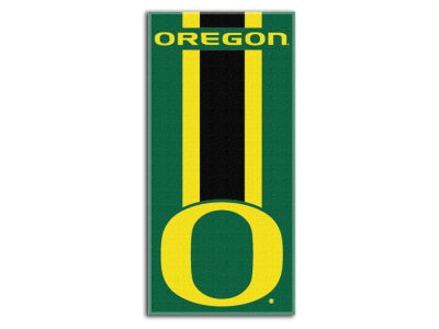 "Oregon Ducks College 30x60 inch Beach Towel ""Zone Read"""