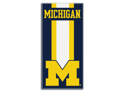 "Michigan Wolverines College 30x60 inch Beach Towel ""Zone Read"""
