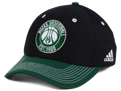 Milwaukee Bucks adidas NBA Duel Logo Flex Cap