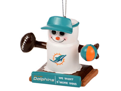 Miami Dolphins Thematic Smore Ornament