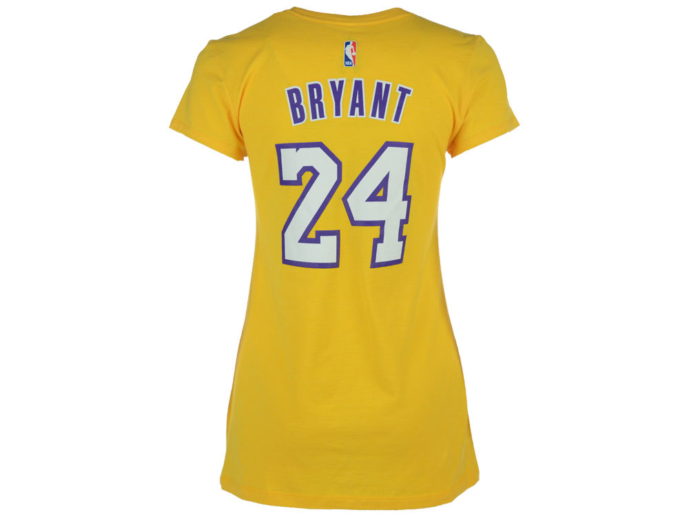Los Angeles Lakers Kobe Bryant adidas NBA Womens Player T-Shirt ... f328954fd3
