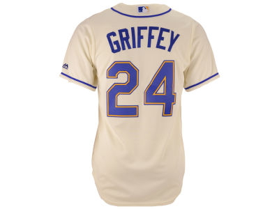 Seattle Mariners Ken Griffey Jr Majestic MLB Men's Cooperstown Player Replica CB Jersey