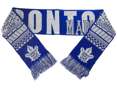 Toronto Maple Leafs Ugly Sweater Acrylic Reversible Scarf