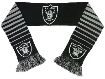 Oakland Raiders Big Logo Scarf Reversible