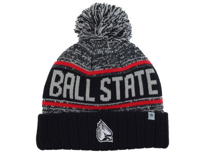 Ball State Cardinals Top of the World NCAA Acid Rain Pom Knit