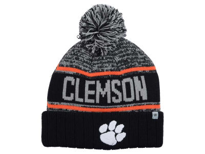 Clemson Tigers Top of the World NCAA Acid Rain Pom Knit